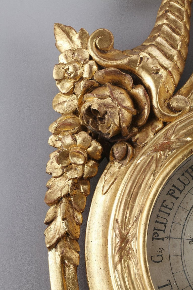18th Century Louis XVI Barometer and Thermometer For Sale 4