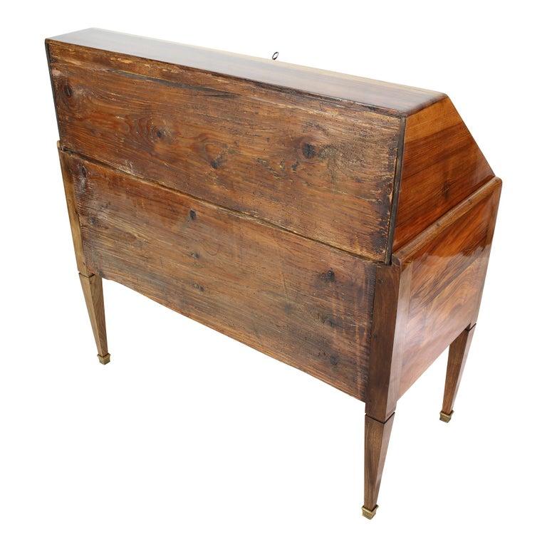 Spruce 18th Century Louis XVI Baroque Walnut Fall Front Desk / Secretaire For Sale