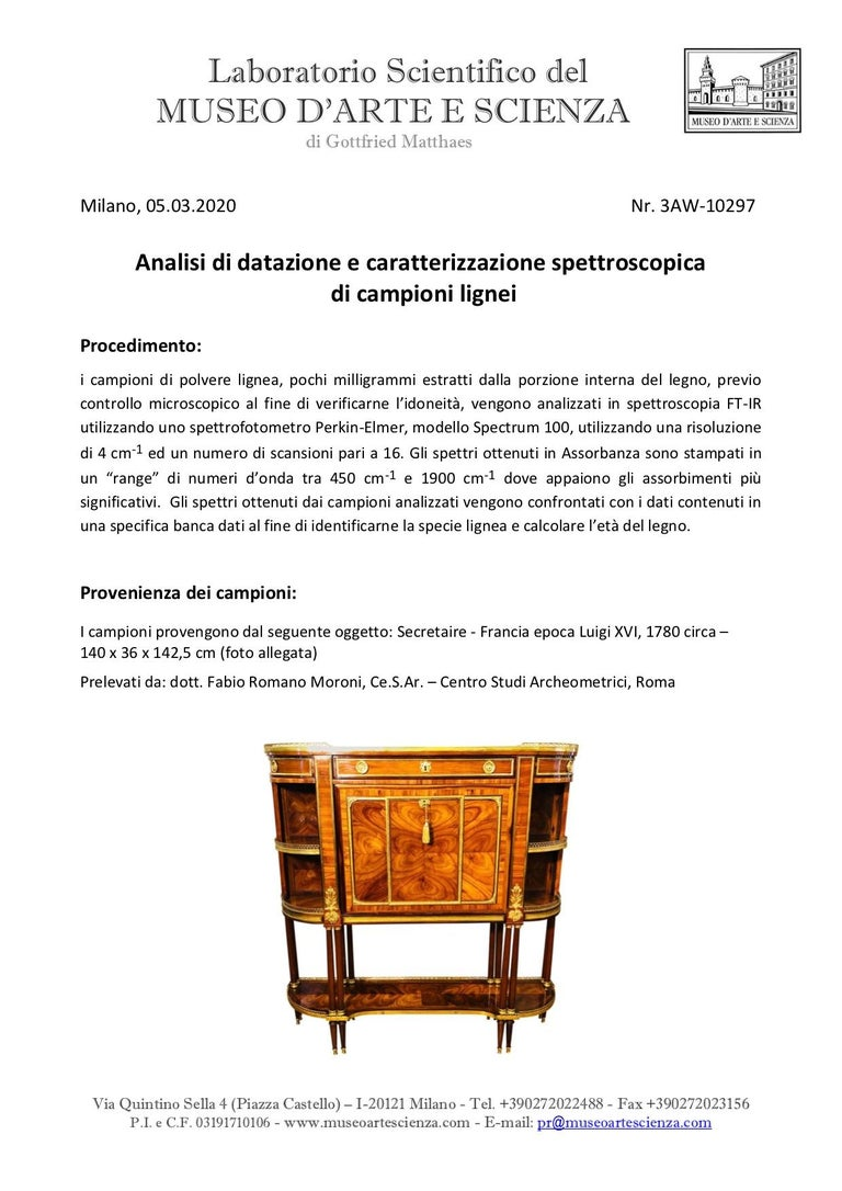 Marquetry 18th Century Louis XVI Bois de Rose Secretaire, Roger Vandercruse Lacroix, 1780s For Sale