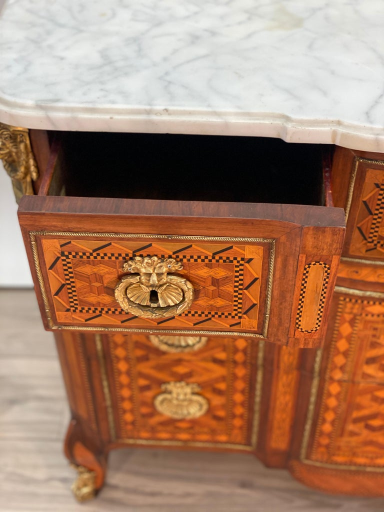 18th Century Louis XVI Commode Signed T.C. For Sale 7
