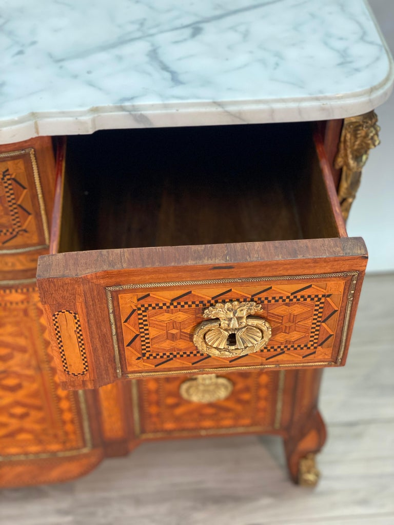 18th Century Louis XVI Commode Signed T.C. For Sale 8