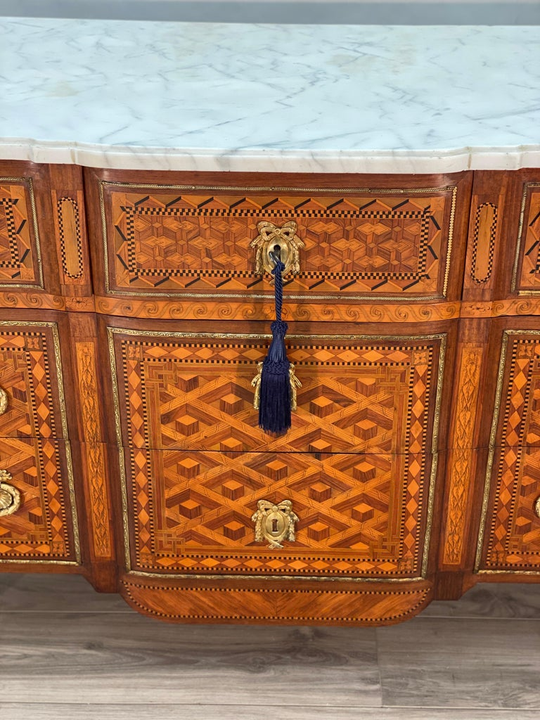 18th Century Louis XVI Commode Signed T.C. For Sale 9