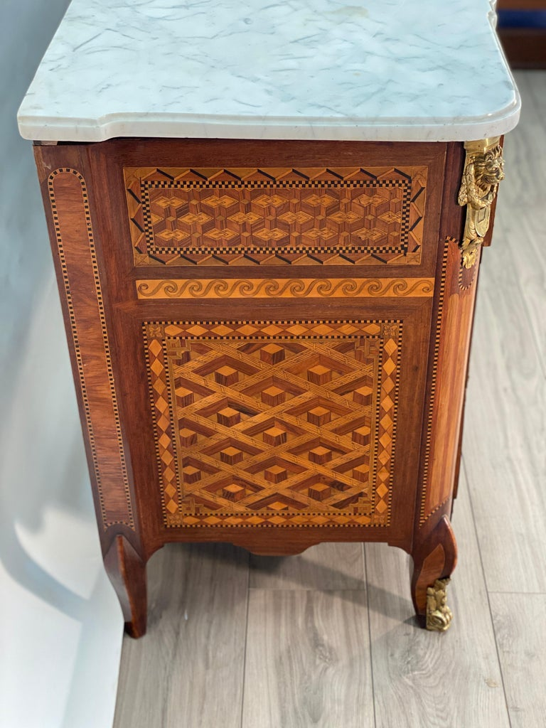 18th Century Louis XVI Commode Signed T.C. For Sale 10