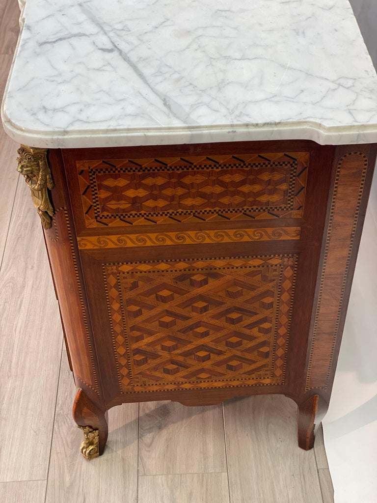 18th Century Louis XVI Commode Signed T.C. For Sale 11