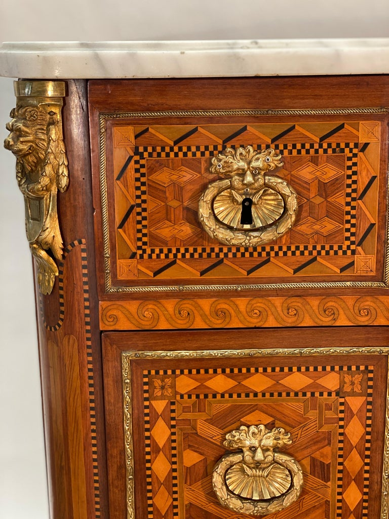 Late 18th Century 18th Century Louis XVI Commode Signed T.C. For Sale