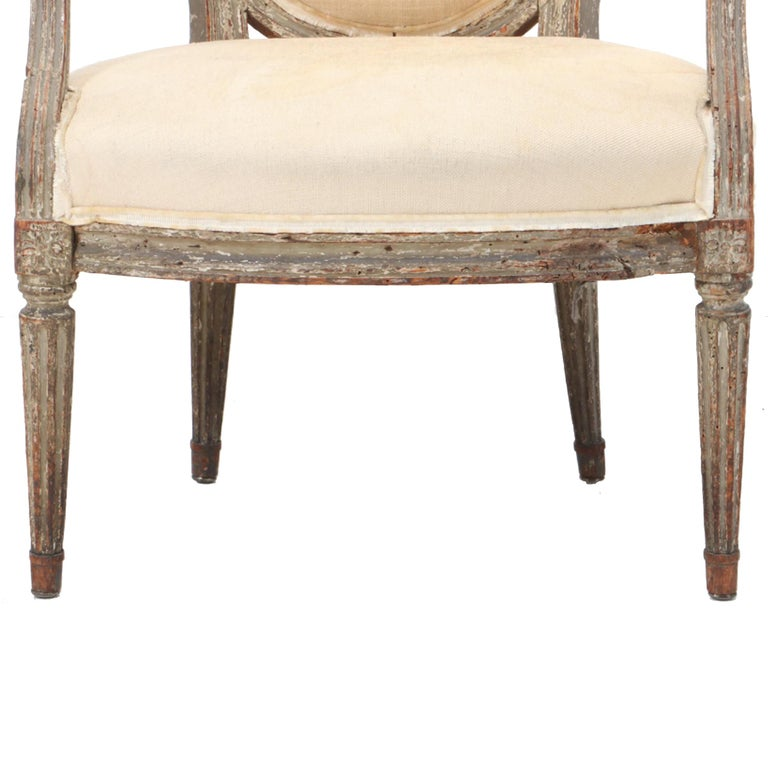 18th Century French Louis XVI Fauteuil For Sale 2
