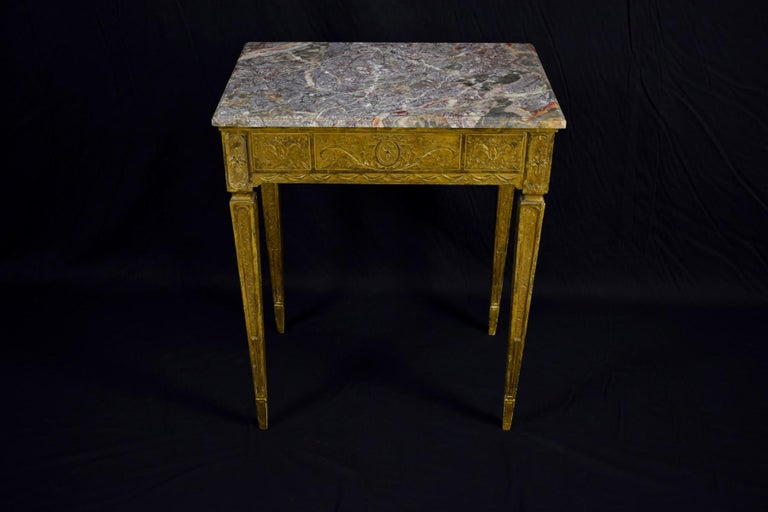 18th Century Louis XVI Giltwood Center Table For Sale 6