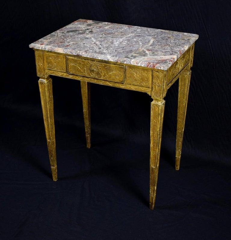 Italian 18th Century Louis XVI Giltwood Center Table For Sale