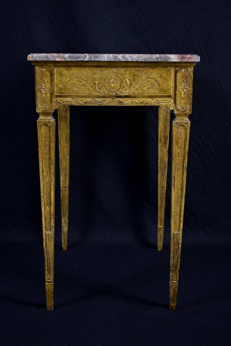 18th Century Louis XVI Giltwood Center Table For Sale 1