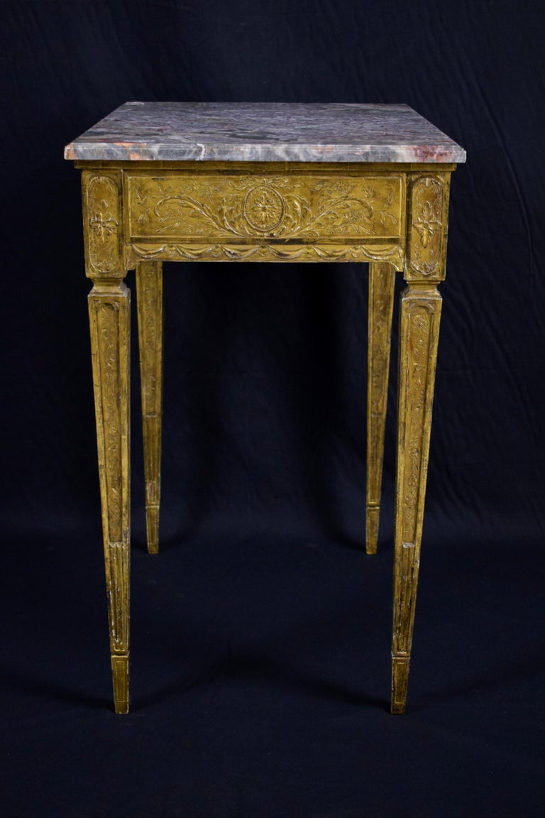 18th Century Louis XVI Giltwood Center Table For Sale 2