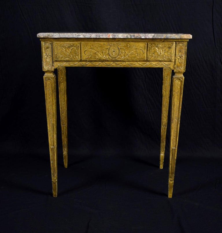 18th Century Louis XVI Giltwood Center Table For Sale 3