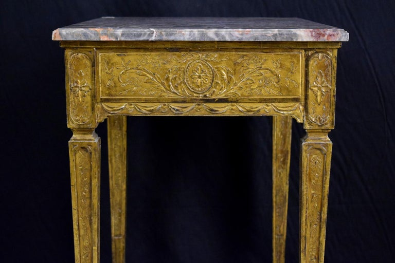 18th Century Louis XVI Giltwood Center Table For Sale 5