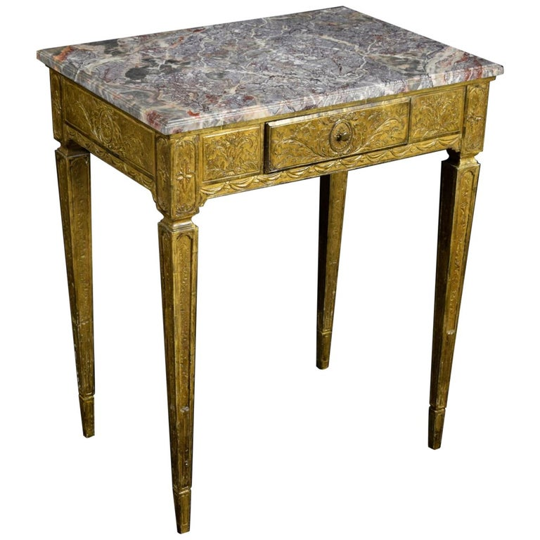 18th Century Louis XVI Giltwood Center Table For Sale