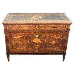 18th Century Louis XVI Italian Dresser Marquetry Chest of Drawers