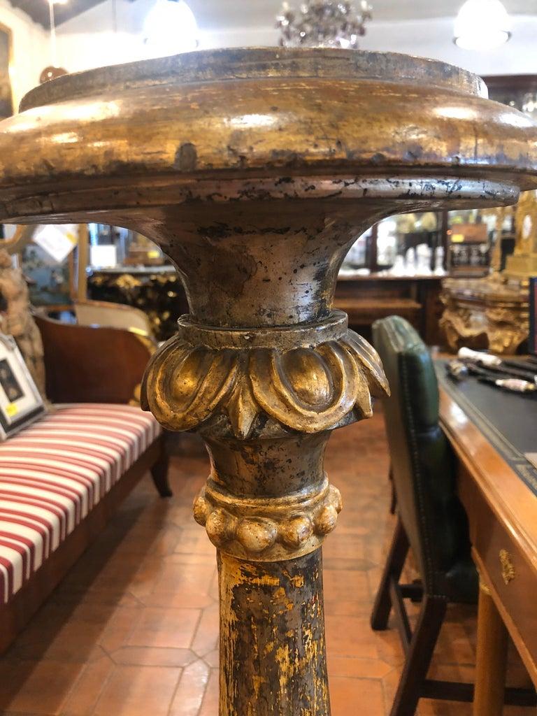 Late 18th Century 18th Century Louis XVI Italian Wood Gilt Torchères, 1790 For Sale