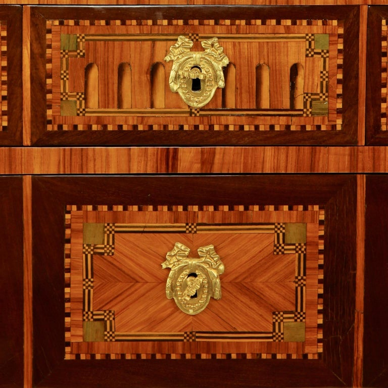 18th Century Louis XVI Neoclassical Marquetry Commode or Chest of Drawers 4