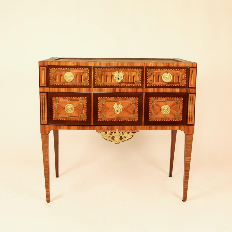 18th Century Louis XVI Neoclassical Marquetry Commode or Chest of Drawers 6