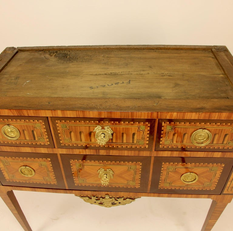 18th Century Louis XVI Neoclassical Marquetry Commode or Chest of Drawers 8