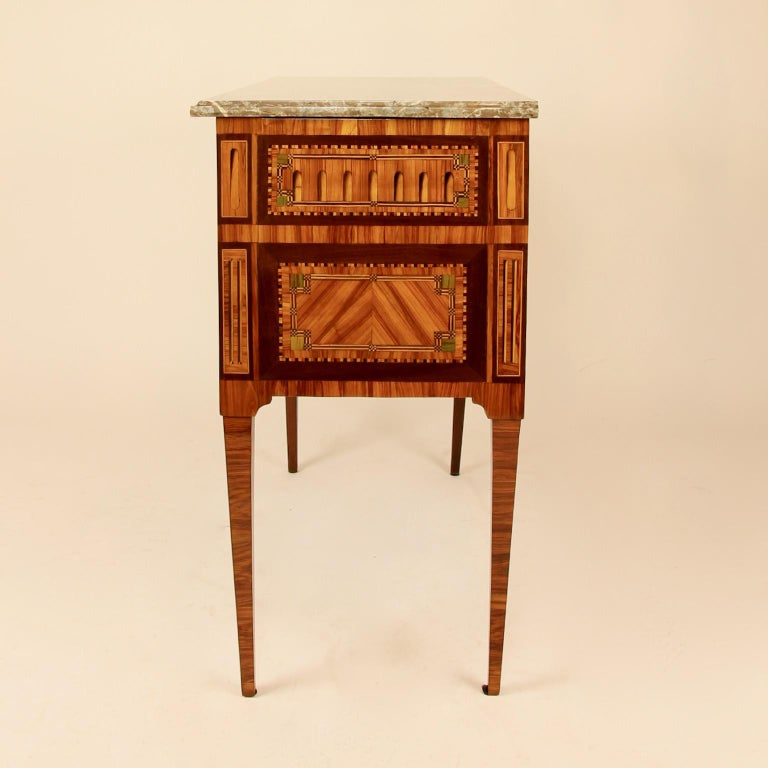 French 18th Century Louis XVI Neoclassical Marquetry Commode or Chest of Drawers