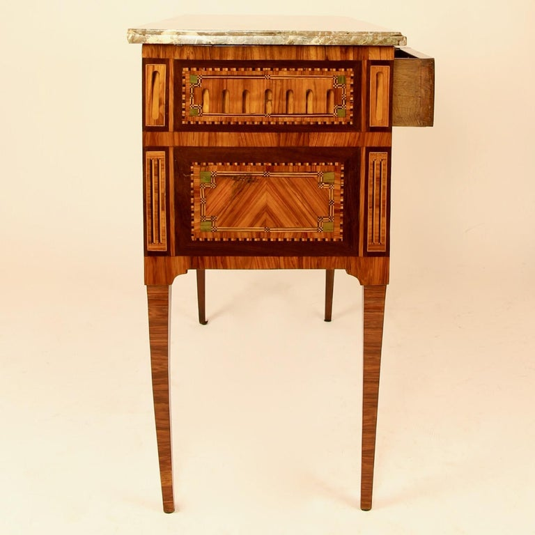 18th Century Louis XVI Neoclassical Marquetry Commode or Chest of Drawers In Good Condition In Berlin, DE