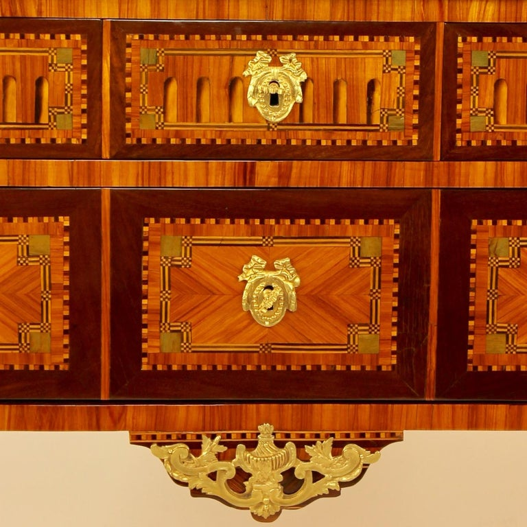 18th Century Louis XVI Neoclassical Marquetry Commode or Chest of Drawers 1