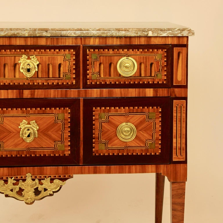 18th Century Louis XVI Neoclassical Marquetry Commode or Chest of Drawers 2
