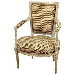 18th Century Louis XVI Period Armchair, circa 1780, ex-Dalva Brothers