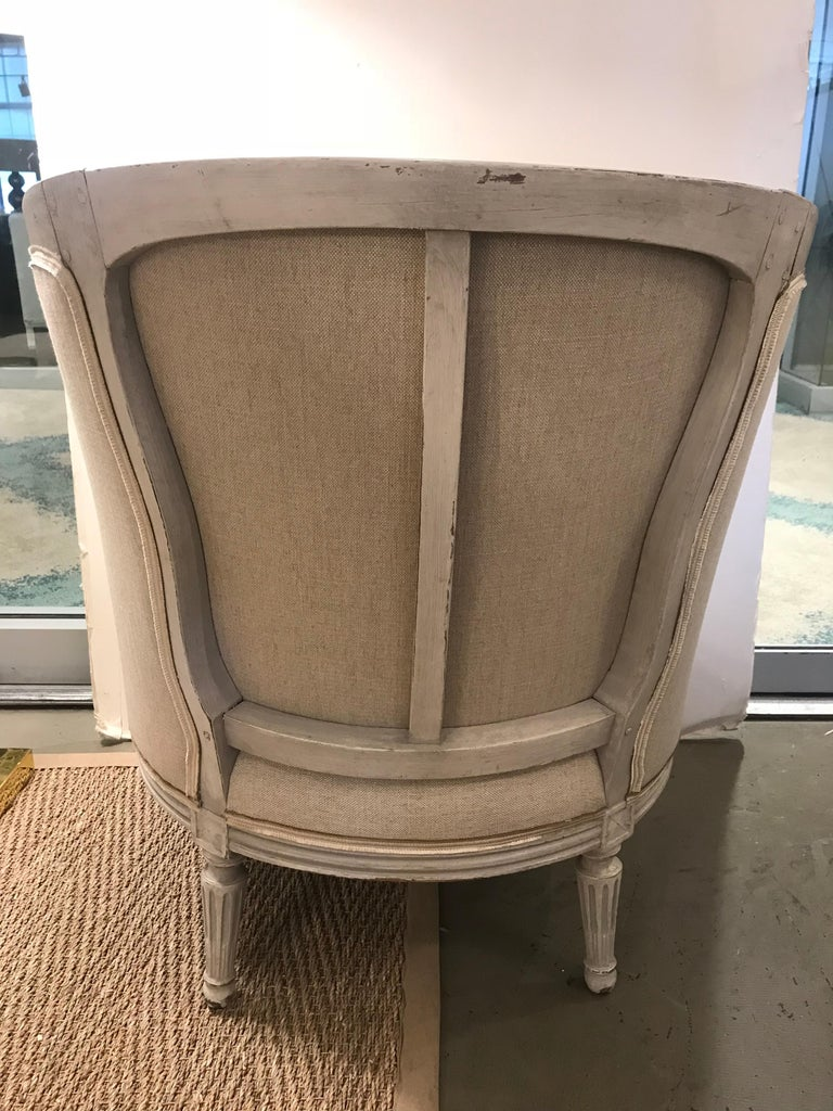 18th Century Louis XVI Period Bergere In Excellent Condition For Sale In Boston, MA