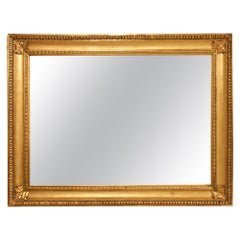 18th Century Louis XVI Period Rectangular Giltwood Mirror