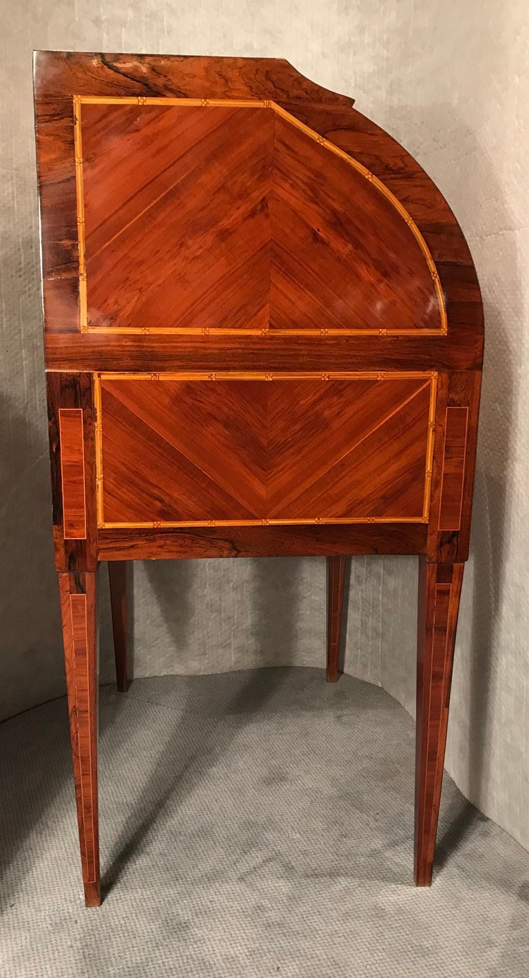 18th Century Louis XVI Roll Top Secretaire In Good Condition For Sale In Belmont, MA