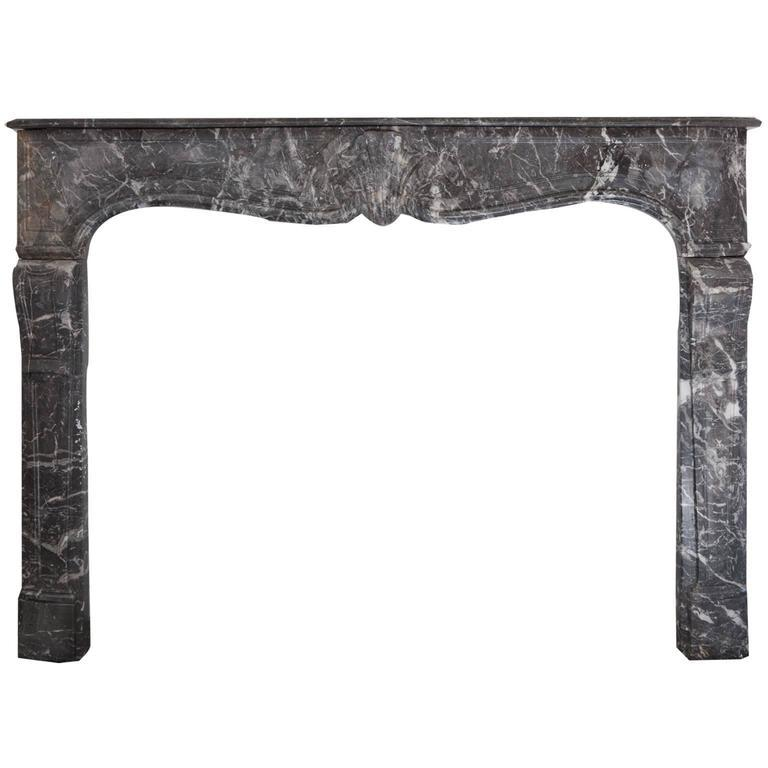 18th Century Louis XVI Style Anne's Marble Fireplace Mantel For Sale
