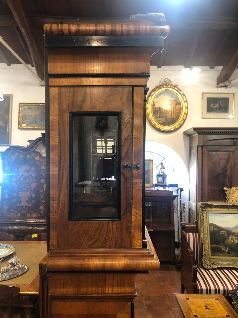 18th Century Louis XVI Sweden Elm Granfather Clock, 1790s For Sale 1