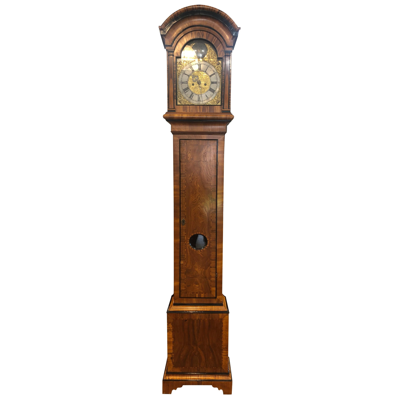 18th Century Louis XVI Sweden Elm Granfather Clock, 1790s