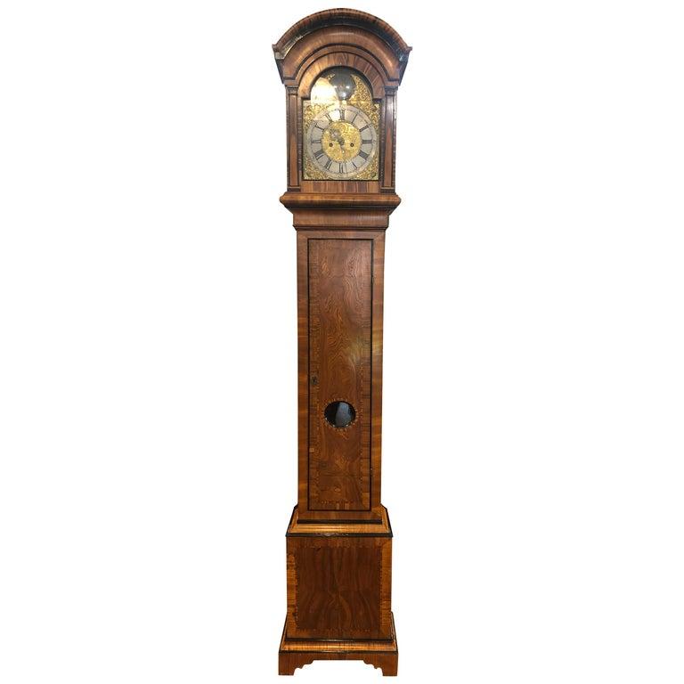 18th Century Louis XVI Sweden Elm Granfather Clock, 1790s For Sale