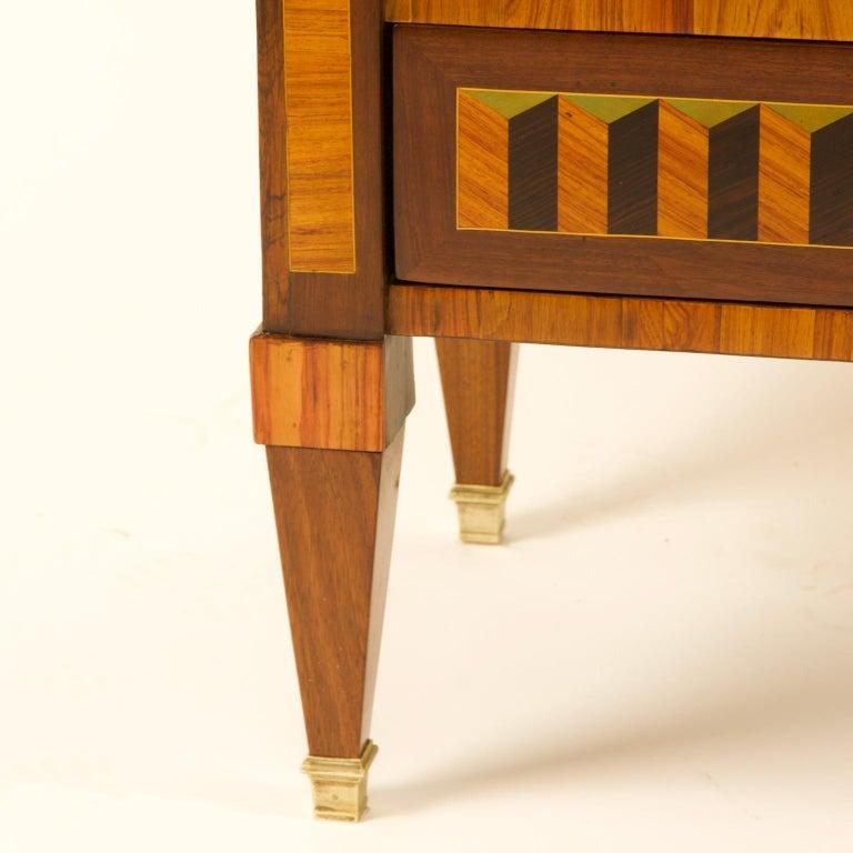 18th Century Louis XVI Trompe l'Oeil Marquetry Desk or Secrétaire Chiffonière For Sale 1