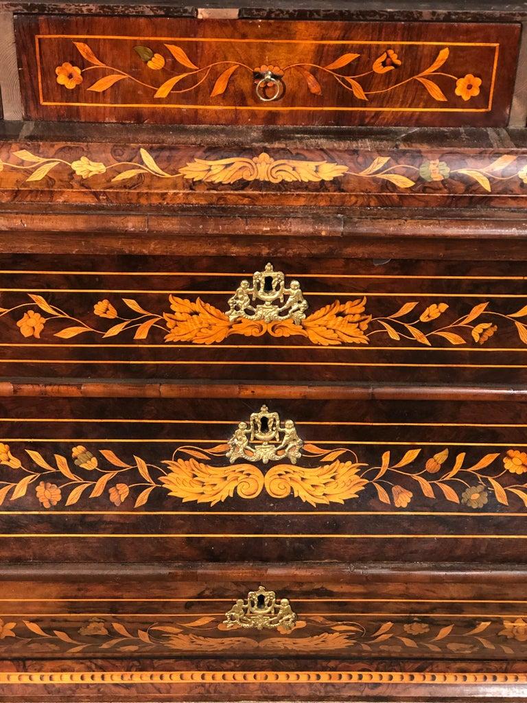 18th Century Louis XVI Walnut Ducth Inlay Trumeau Armocheirs ,1800s For Sale 7