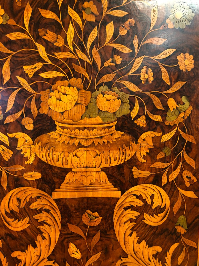 18th Century Louis XVI Walnut Ducth Inlay Trumeau Armocheirs ,1800s For Sale 1