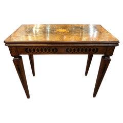 18th Century Louis XVI Walnut Elm Wood Game Table, 1780s