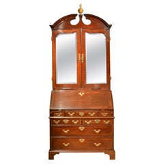 18th Century Mahogany Architectural Bureau Bookcase