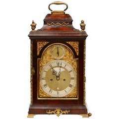 18th Century Mahogany Bell Top Bracket Clock by Spencer and Perkins