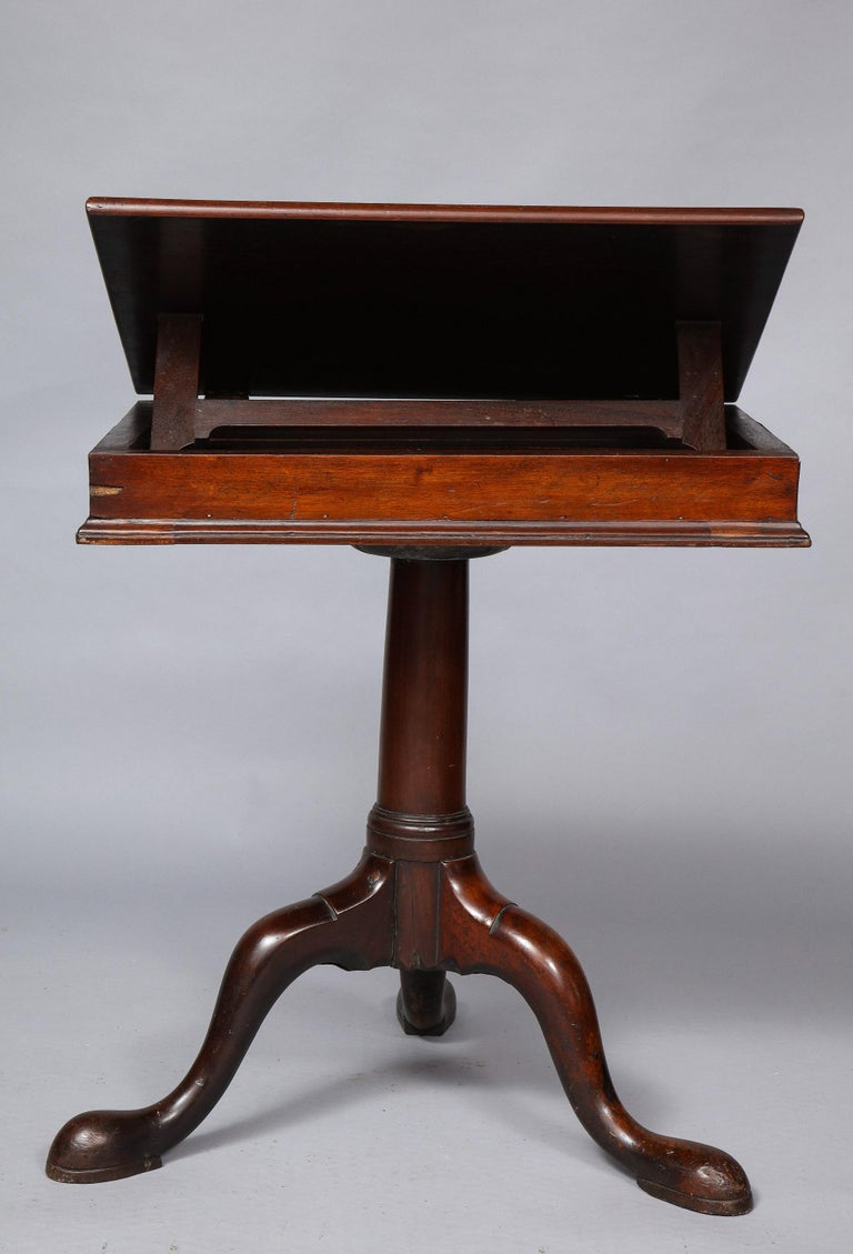18th Century Mahogany Bookstand For Sale 11