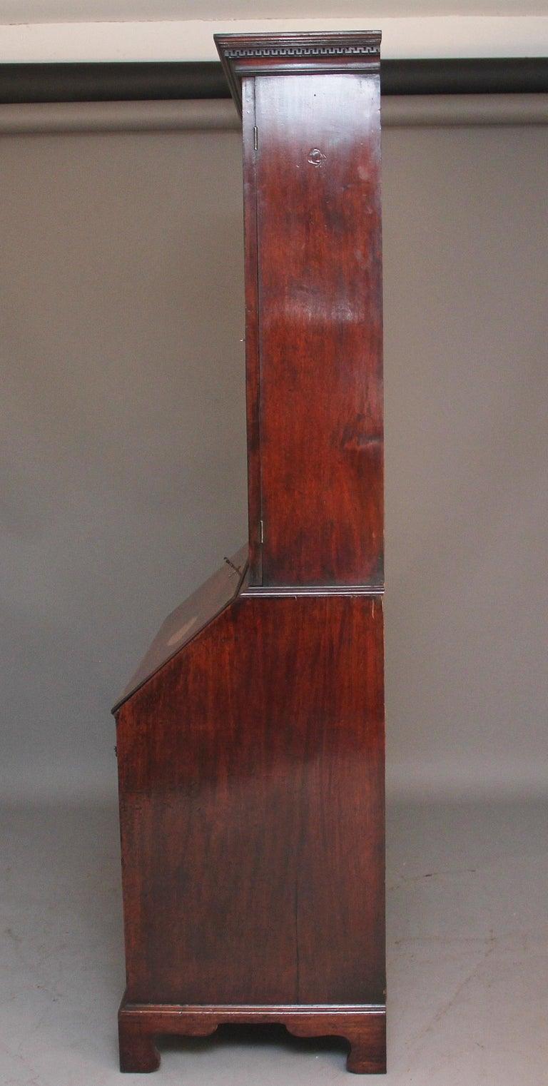 18th Century Mahogany Bureau Bookcase For Sale 4