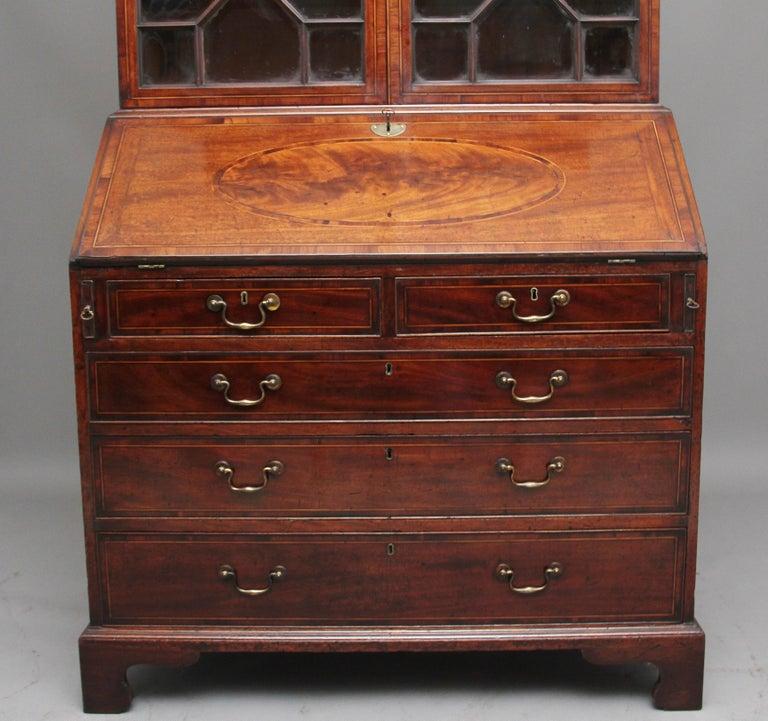 18th Century Mahogany Bureau Bookcase For Sale 1