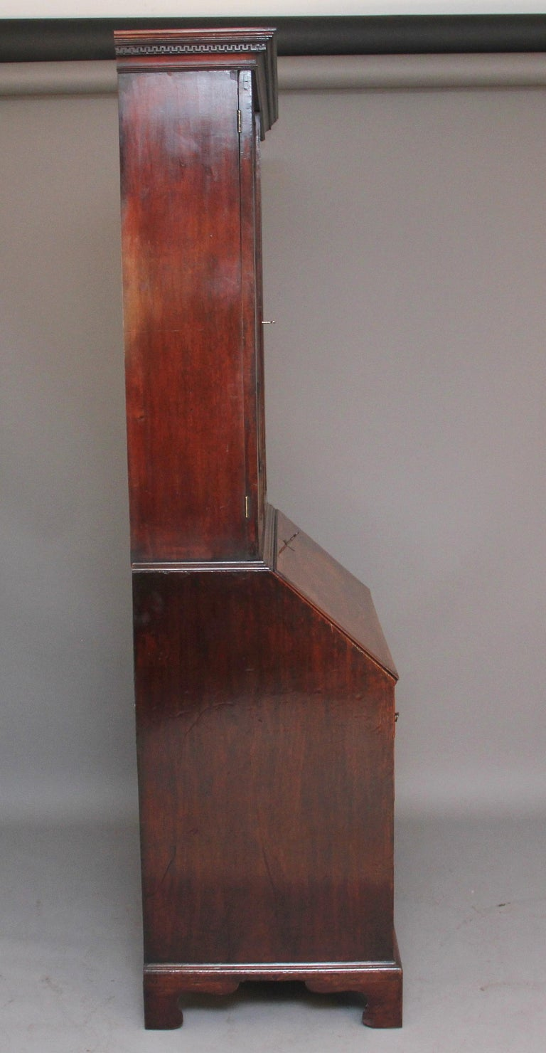 18th Century Mahogany Bureau Bookcase For Sale 2