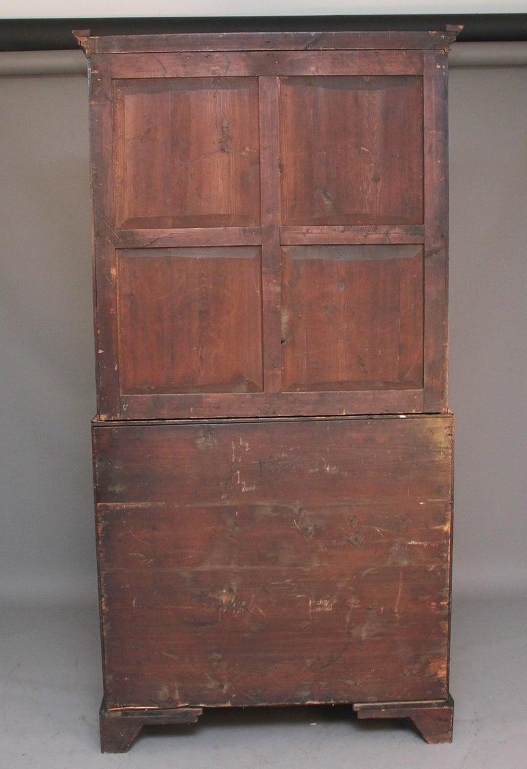 18th Century Mahogany Bureau Bookcase For Sale 3