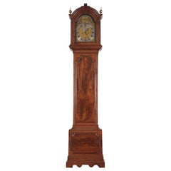 18th Century Mahogany-Cased Grandfather Clock London Maker Thomas Grignion