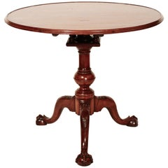 18th Century Mahogany Chippendale Tea Table