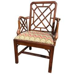 18th Century Mahogany Cockpen Armchair