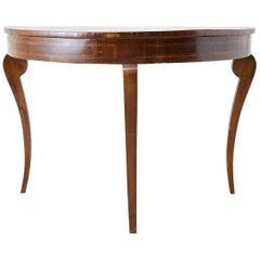 18th Century Mahogany Demilune Console Table