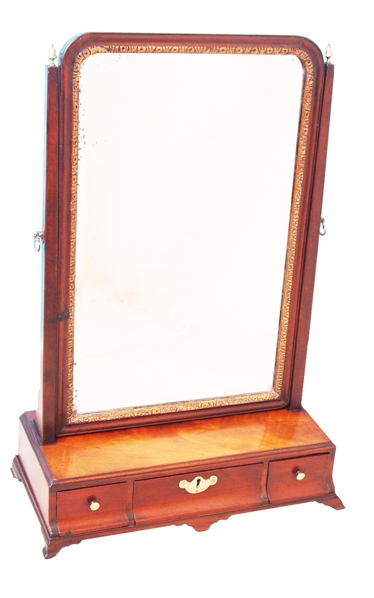 George II 18th Century Mahogany Dressing Table Mirror For Sale